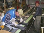 On 8 March, Brad prepares to make the mounting pads for the four lift pins on the root ribs.