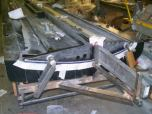 The right root ribs, located with the lift pin alignment fixture and being bonded into place.