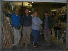 The usual Akaflieg Douglas Flat suspects: Brad Hill, Doug Gray, Brigitta Kuykendall, and Bob Kuykendall. On 15 March, I went back to work while Doug and Brad cleaned up the left wing aft edges and tidied up the shop a bit.